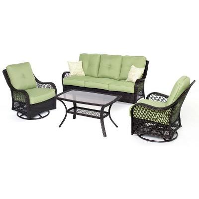 Merritt 4pc Woven Glider Chair Seating Set - Cambridge