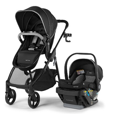 Summer Infant Myria Modular Travel System With Affirm 335 Rear-Facing Infant Car Seat And Base - Onyx Black