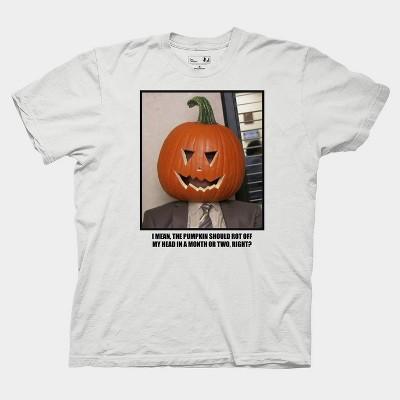 Men's Dwight Pumpkin Short Sleeve Graphic T-Shirt - White