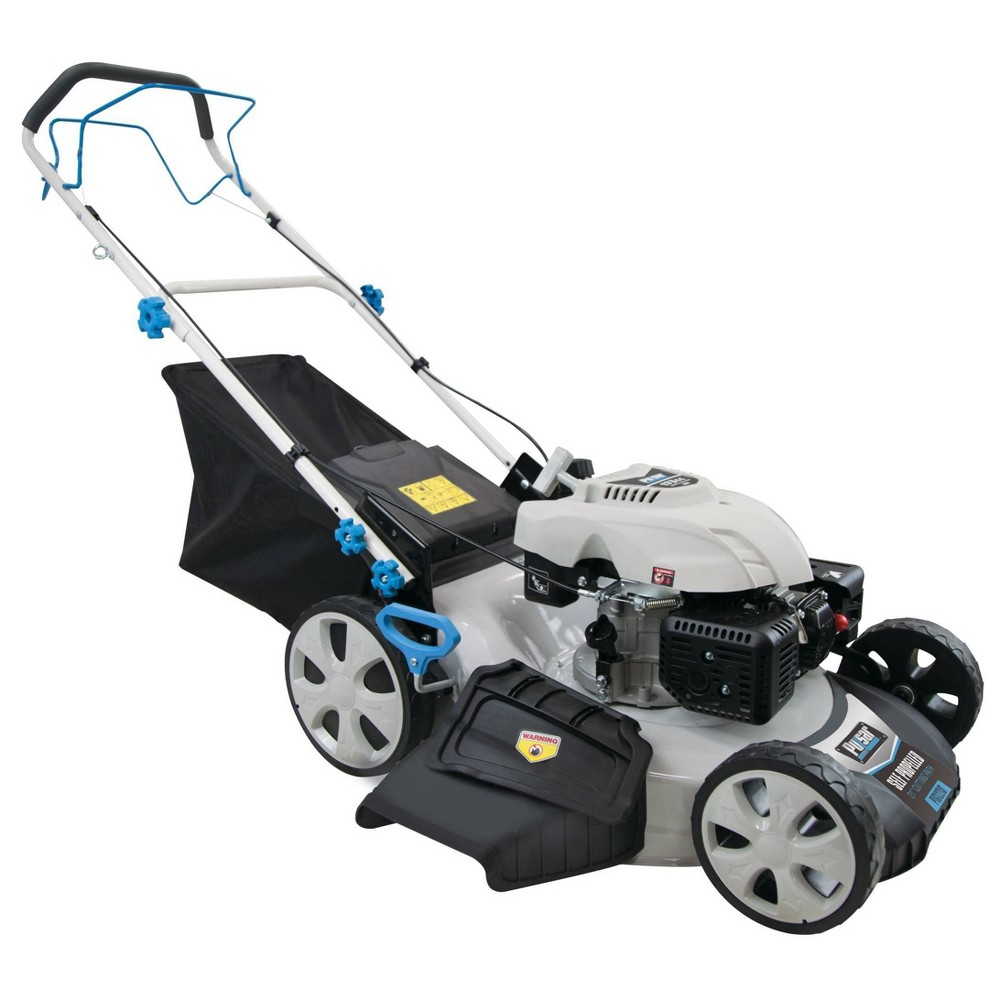 "Image of ""21"""" 3-in-1 Self Propelled Gas Lawn Mower White - Pulsar"""