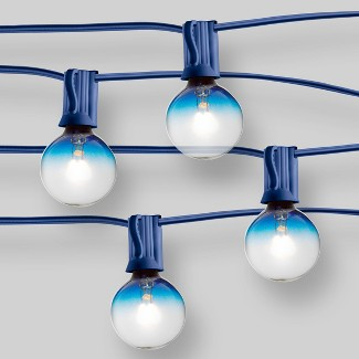 20ct String Lights G40 Blue Ombre Bulbs - Blue Wire -  16.8 - Room Essentials™
