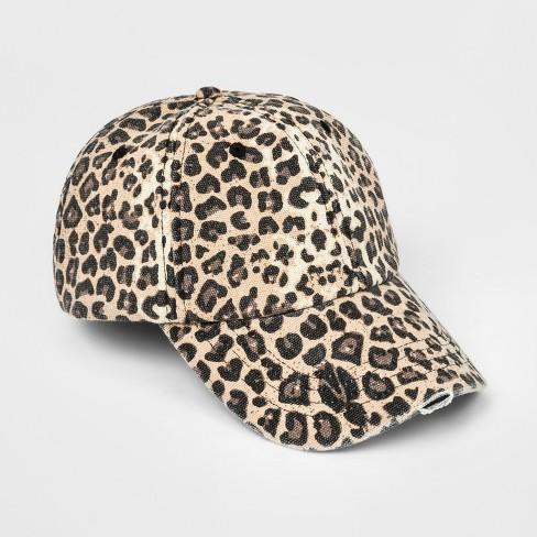 Girls  Leopard Print Baseball Hat - Art Class™ One Size   Target 55fe92e21d9