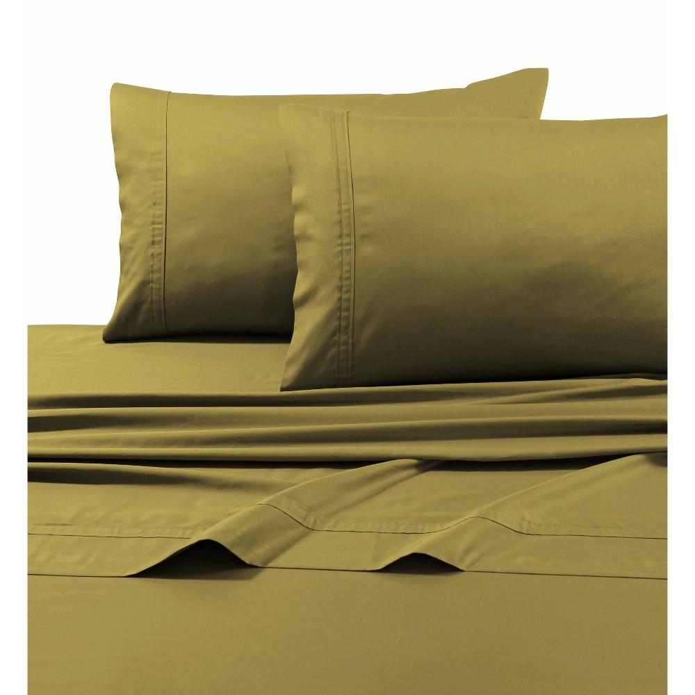 California King 500 Thread Count 6pc Extra Deep Pocket Sateen Sheet Set Gold Tribeca Living
