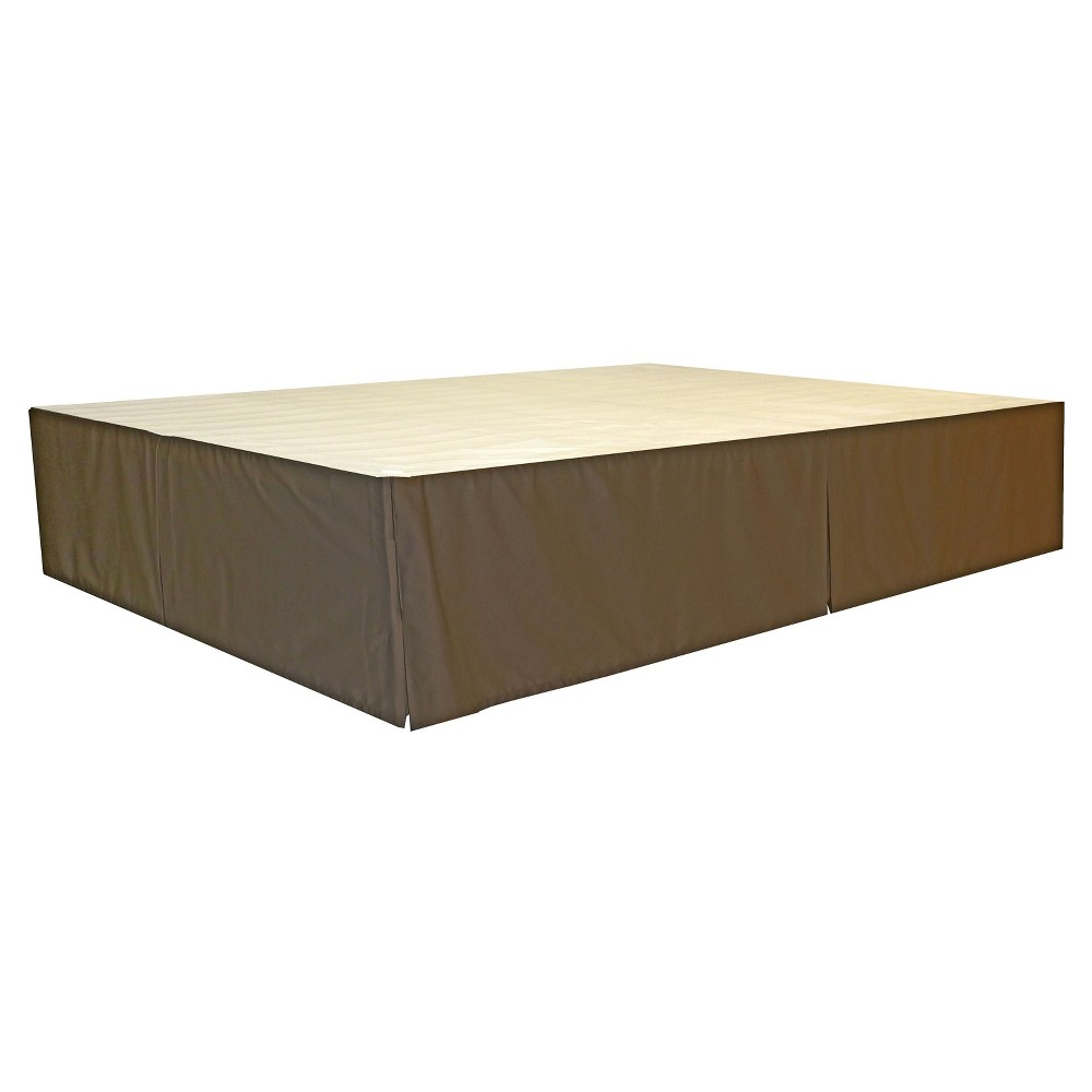 The DuraBed Decorative Bed Skirt, Brown