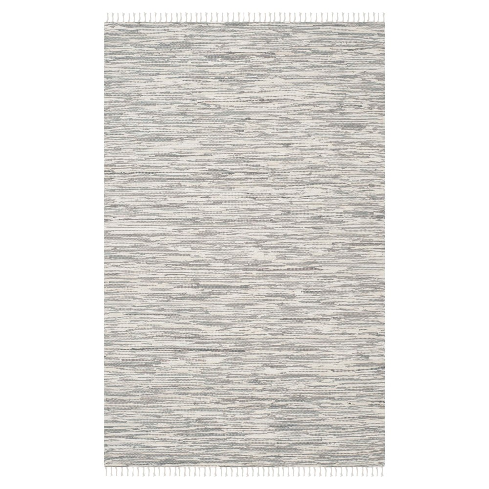 Chasen Flatweave Area Rug - Silver (8' X 10') - Safavieh
