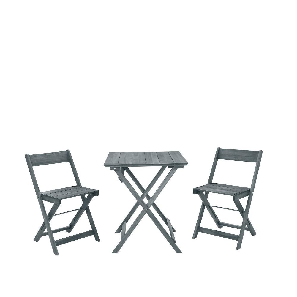 Best Rockport 3pc Square Table Set  - Linon