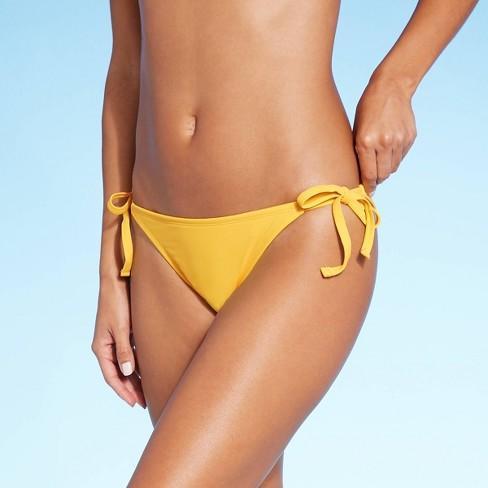 Women's Side-Tie Cheeky Bikini Bottom - Shade & Shore™ - image 1 of 4