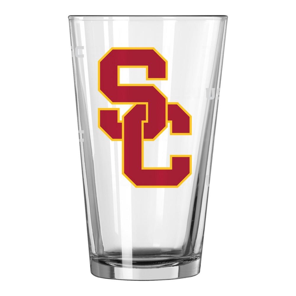 NCAA Usc Trojans Single Boxed Pint Glass - 16oz