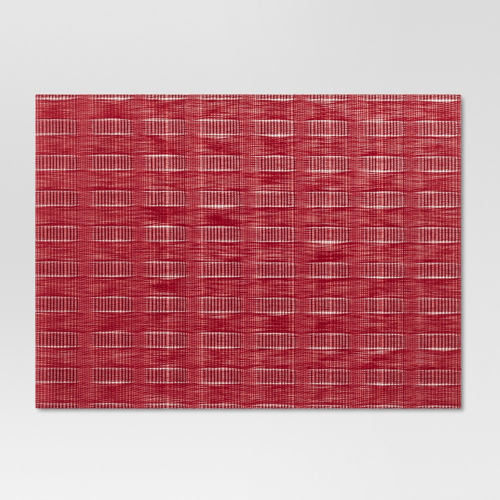 """Image of """"19""""""""x14"""""""" Woven Placemat Red - Threshold"""""""