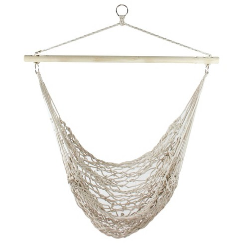 Northlight 35 5 Quot X 44 Quot Macrame Hammock Chair With Wooden