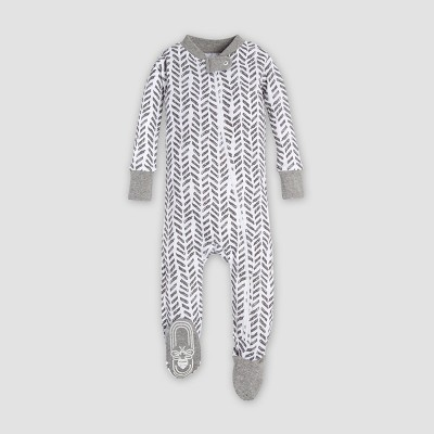 Burt's Bees Baby® Organic Cotton 'Guide The Way' Footed Sleeper - Charcoal 0-3M