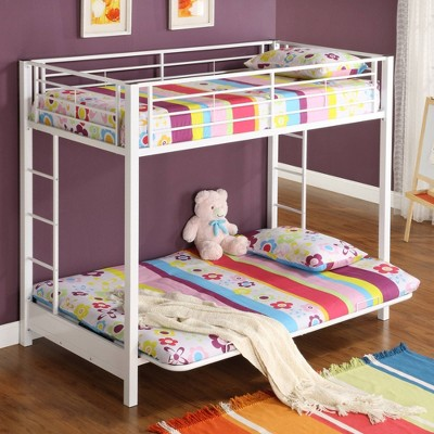 Premium Metal Twin over Futon Bunk Bed - Saracina Home