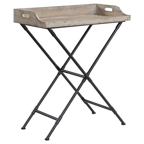 Folding Table Antique Wood - Johar Furniture - image 1 of 3