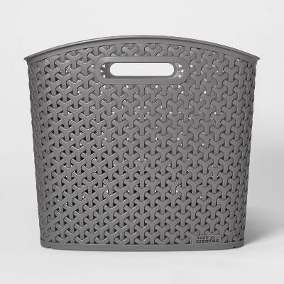 XL Y Weave Curved Bin Earth Gray - Room Essentials™