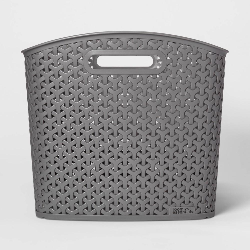 Y Weave Xl Curved Decorative Storage Basket Gray Room Essentials 8482