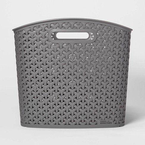 XL Y Weave Storage Curved Bin Earth Gray - Room Essentials™ - image 1 of 3