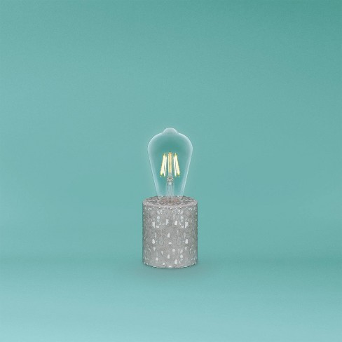Terrazzo Novelty Speckled Table Lamp Gray - West & Arrow - image 1 of 2