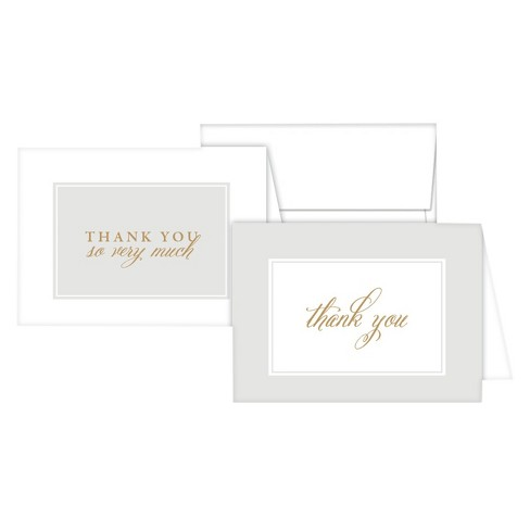 Stationery Notes - Thank You so Very Much Gray - image 1 of 1