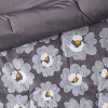Room Essentials™ Gray Daisies with White Sheets  Printed MicrofiberBed Set w/ Sheets - image 4 of 4
