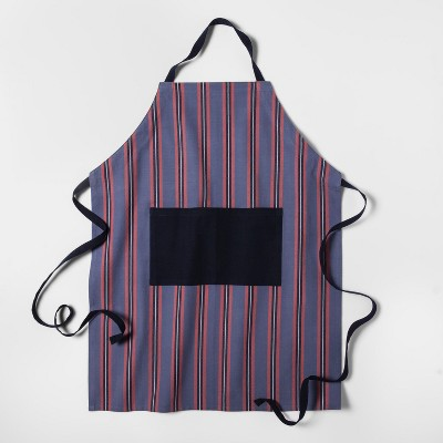 Metallic Blue Floral Cooking Apron - Threshold™