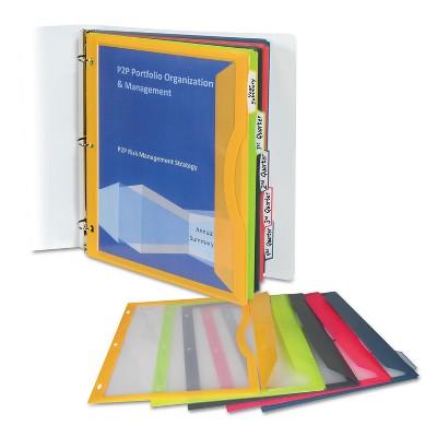 C-Line Binder Pocket With Write-On Index Tabs 9 11/16 x 11 3/16 Assorted 5/Set 06650