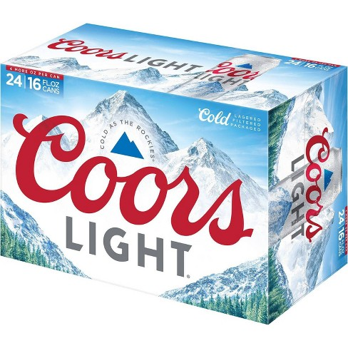 Coors Light Beer - 24pk/16 fl oz Cans - image 1 of 2