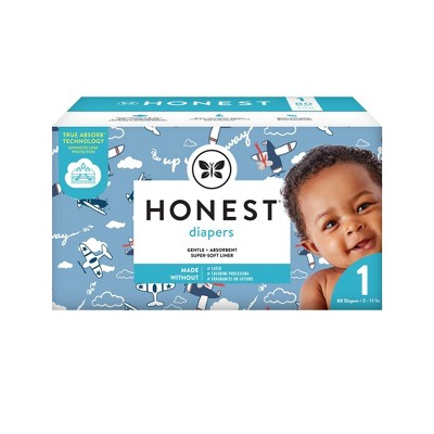 The Honest Company Disposable Diapers Up Up & Away Size 1 - 80ct