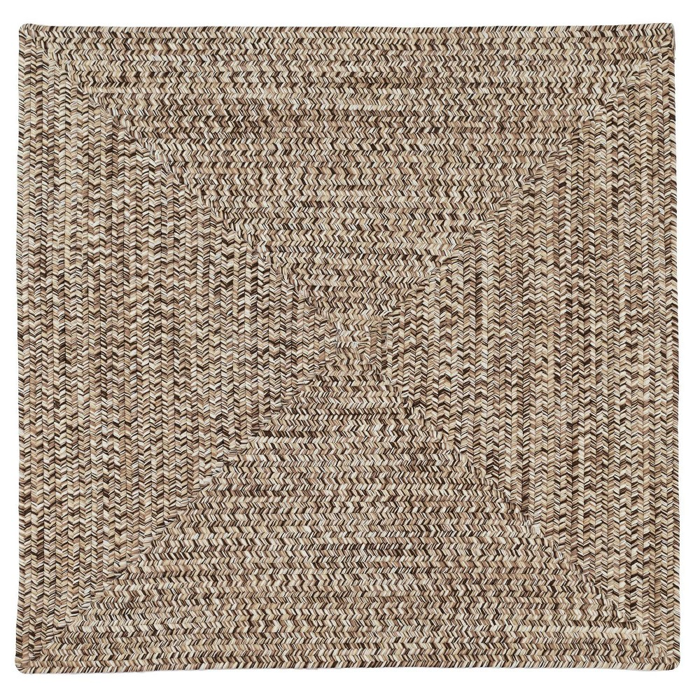 Forest Tweed Braided Area Rug Brown