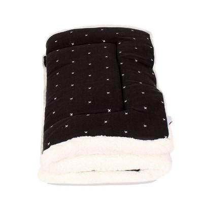 Trifold Mat Print Cross Stitch Dog Bed - M - Black - Boots & Barkley™