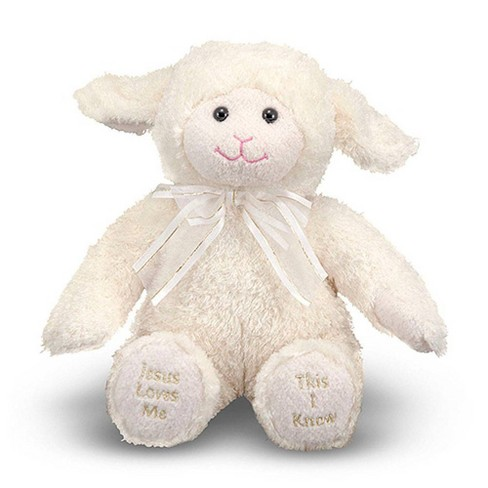 Melissa & Doug Jesus Loves Me Lamb - Stuffed Animal With Sound Effects - image 1 of 3
