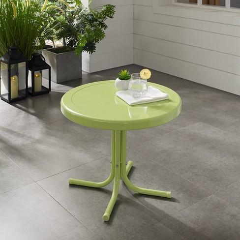 Retro Metal Side Table Key Lime