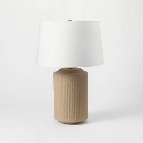 Ceramic Assembled Table Lamp (Includes LED Light Bulb) Gray - Threshold™ designed with Studio McGee - image 1 of 4