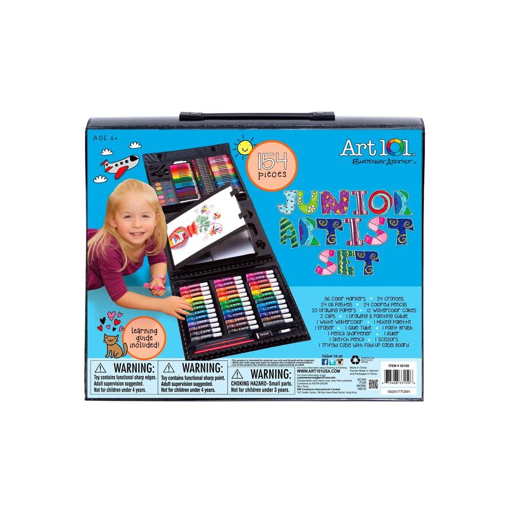 Image of Kid's Tri-fold Art Set 154pc Art 101