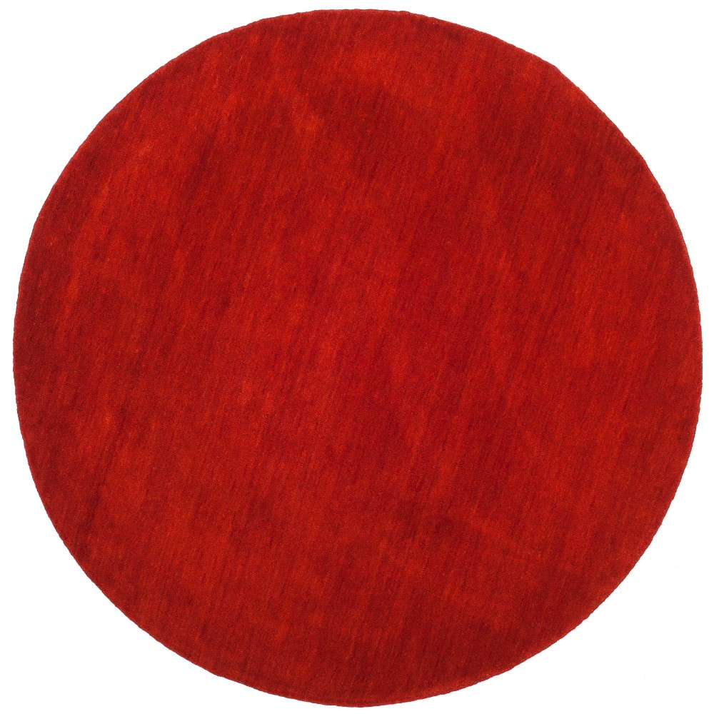 6' Solid Loomed Round Area Rug Red - Safavieh