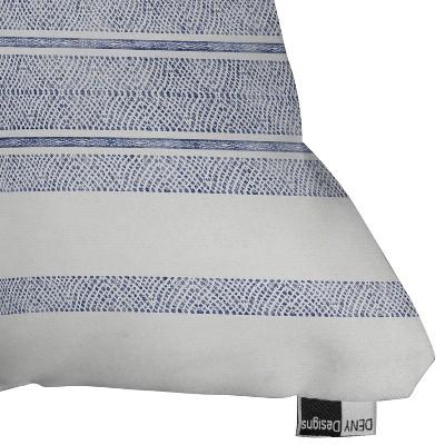 Holli Zollinger Capri Stripes Square Throw Pillow Blue - Deny Designs : Target