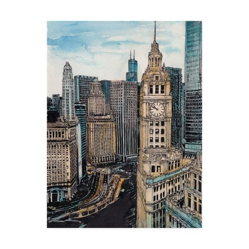 """18"""" x 24"""" Us Cityscape Chicago by Melissa Wang - Trademark Fine Art - image 1 of 4"""