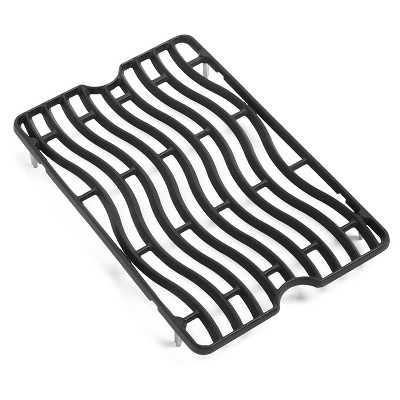 Napoleon S83010 Replacement Porcelainized Nonstick Cast Iron Waved Cooking Grids for LEX 485 Grills, Black (Set of 2)