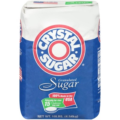 Crystal Granulated 100% Sugar - 10lb