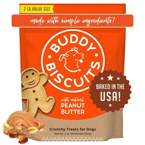Buddy Biscuits Oven-Baked Crunchy Treats with Peanut Butter - image 1 of 4