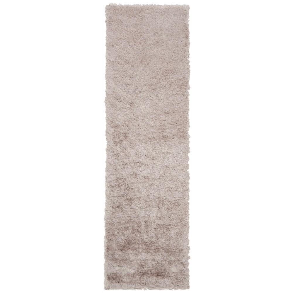 2'2X8' Solid Tufted Runner Beige/Light Gray - Safavieh