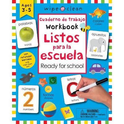 Listos para la escuela / Wipe Clean Bilingual Workbook Ready for School (Paperback)(Roger Priddy)