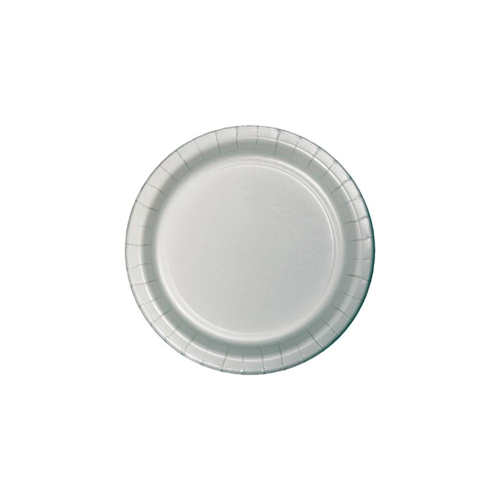 Shimmering Silver 7 Dessert Plates - 24ct