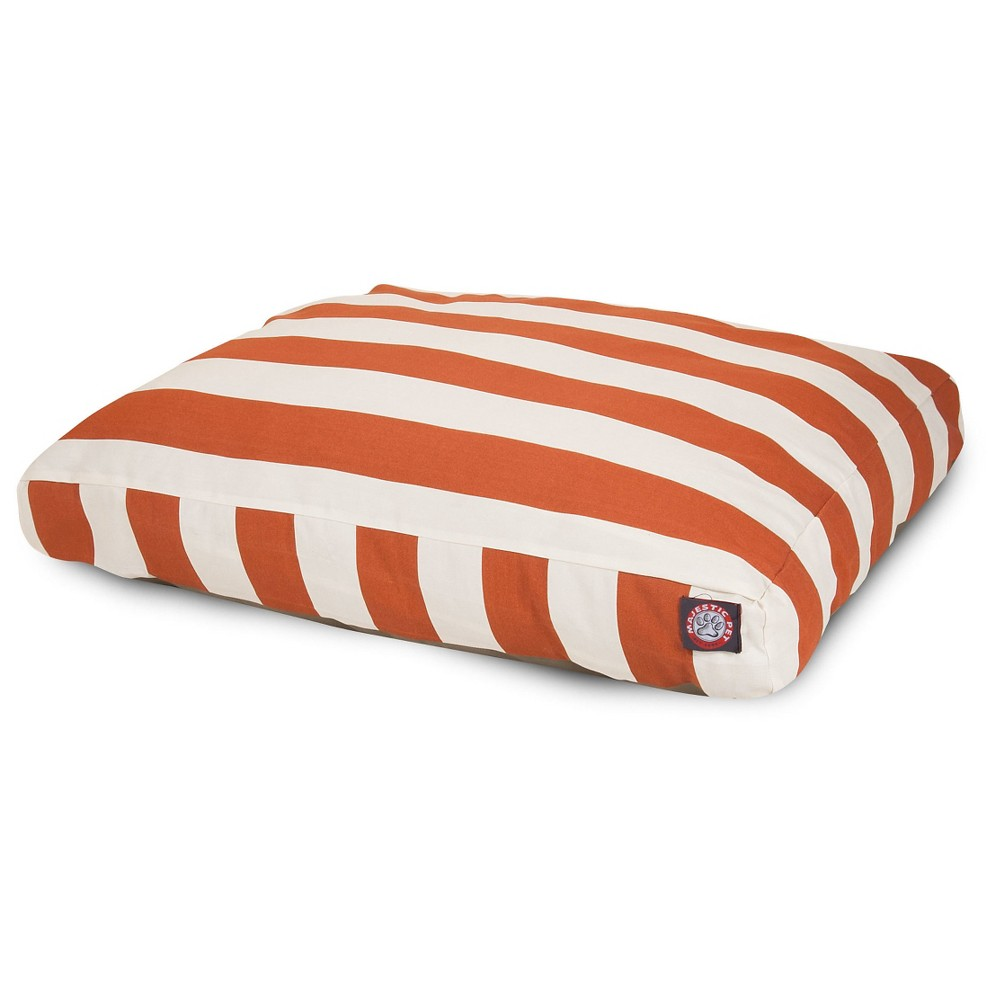 Majestic Pet Vertical Stripe Rectangle Dog Bed - Burnt Orange - Extra Large