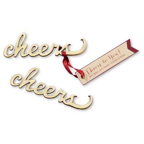 "12ct ""Cheers"" Antique Bottle Opener Gold - image 1 of 4"