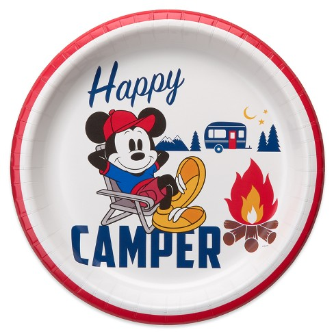 "Disney Mickey Mouse 10.2"" 10ct Happy Camper Dinner Paper Plate - image 1 of 2"