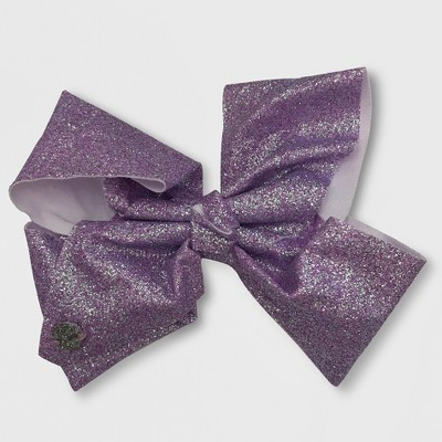 Girls' JoJo Siwa Glitter Bow Hairclip - Purple