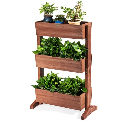 3-Tier Raised Garden Bed Vertical Freestanding Elevated Planter Patio Balcony