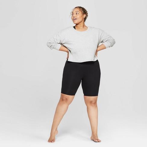 44df28bda60 Women s Plus Size Lounge Bike Shorts - Colsie™ Black   Target