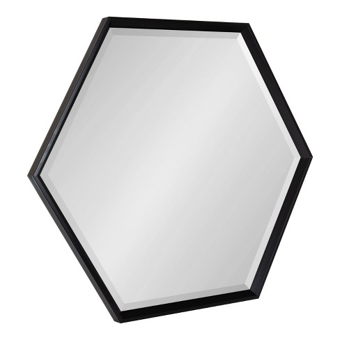 "30"" x 35"" Calder Hexagon Wall Mirror Black - Kate & Laurel All Things Decor - image 1 of 4"