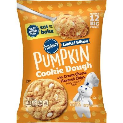 Pillsbury Ready to Bake Pumpkin Cream Cheese Cookie Dough - 14oz